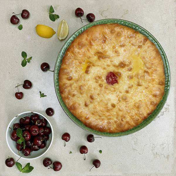 Baldjin - Ossetian pie with sour cherry