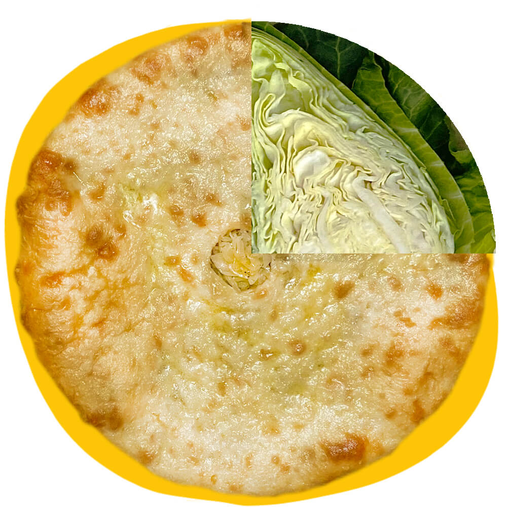Kabuskadjin - Ossetian Pie with white cabbage