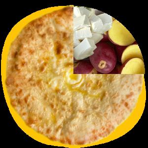 Kartofdjin - Ossetian Pie with potato and cheese